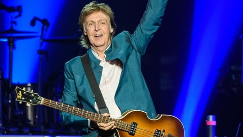 Paul McCartney performing live set in New York City