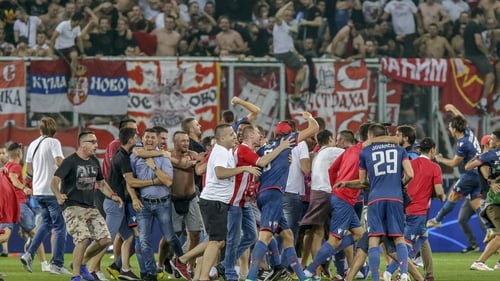 Red Star Belgrade fans banned from Champions League game at Liverpool