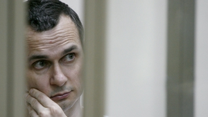 Oleg Sentsov pictured in 2015 during his trial
