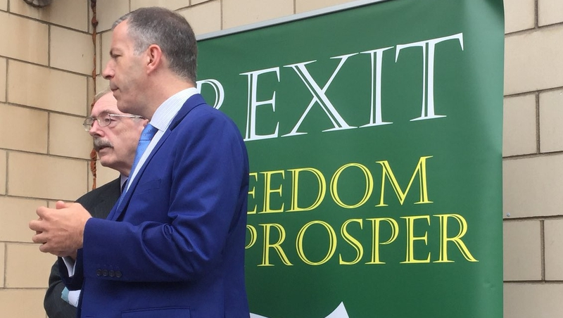 Photo from RTE of the Irexit speakers