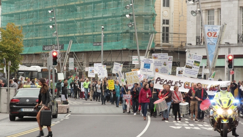 The marchwas organised byCork Climate Action, acoalition of NGOsand individualsconcerned aboutthe threat to the world