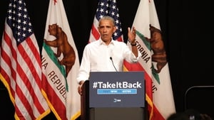 Barack Obama said voters needed to send a clear signal in November that they wanted to reverse the 'cycle of fear'