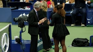 Williams did not agree with the umpire's call