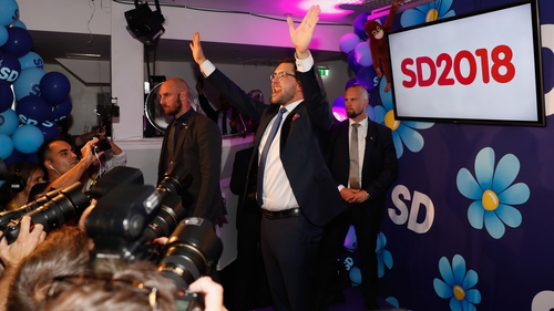 Leader of the far-right party Sweden Democrats, Jimmie Akesson