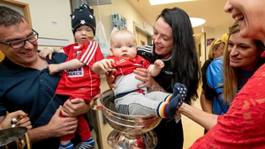 Cork's Ashling Thompson at Our Lady's Children's Hospital in Crumlin.