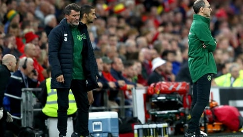 Roy Keane (L) has been Martin O'Neill's assistant manager since 2013