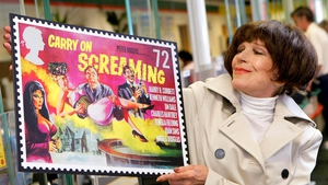 Fenella Fielding launching a series of stamps in the UK celebrating the 50th anniversary of the Carry On films in 2008 Photo: Press Association