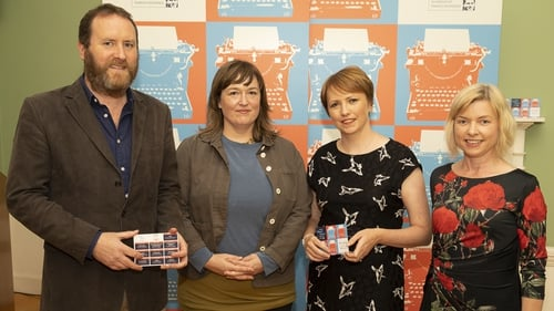 RTÉ Radio 1 Short Story Competition first place winner Claire Zwaartman (second from left) with judges Cormac Kinsella, Sinead Crowley and Danielle McLaughlin