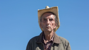 The late Harry Dean Stanton in Lucky. Close but not the cigar it should have been . .