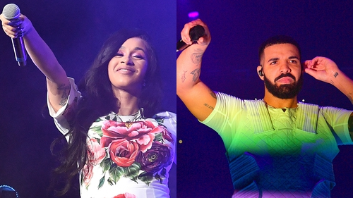 Cardi B and Drake - Going head to head in a number of categories on October 9