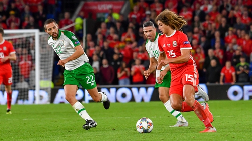 Ampadu in action against Ireland earlier this month in the Nations League