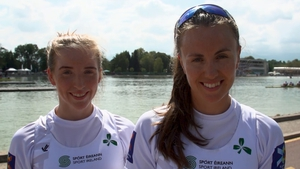 Aifric Keogh and Emily Hegarty helped their Women's Four crew to the semi-final