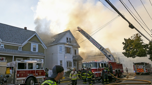 Some 50 fire departments responded to the dozens of incidents