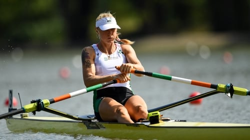Sanita Puspure powered to victory in her heat