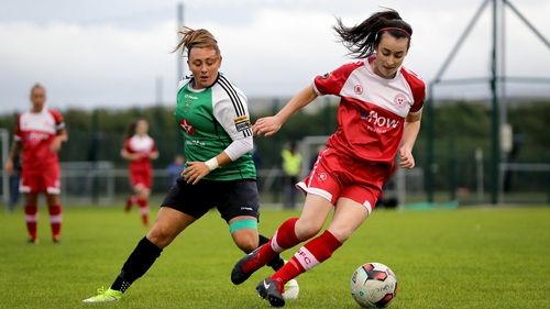 Peamount's Megan Lynch and Roma McLaughlin of Shelbourne during last year's League Cup Final