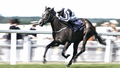 Colm O'Donoghue riding Alpha Centauri to win The Coronation Stakes at Ascot