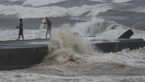 Forecasters have warned of storm surges as high as six metres in coastal villages in the typhoon's path