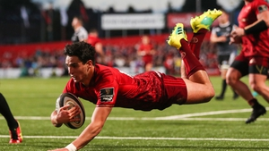 Joey Carbery played 59 minutes in his first start for Munster and scored a try