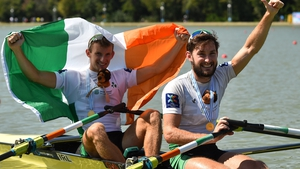 The Skibbereen siblings celebrate after winning gold