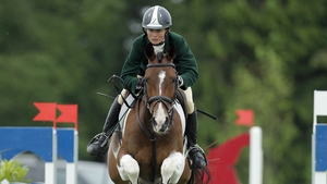 Sarah Ennis is in third position in the individual event