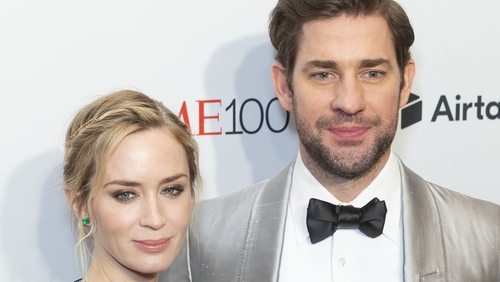 """John Krasinski: """"I was very nervous about directing her' because you want to look confident and be able to impress the person you love with your work."""""""