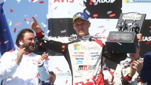Ott Tanak celebrates his win