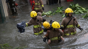 Search and rescue missions were ongoing, after a number of landslides occurred following the powerful weather