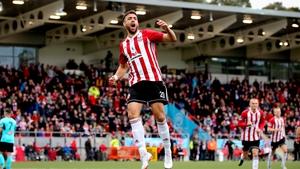 Darren Cole celebrates his goal