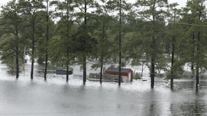 Flooding in North Carolina in the wake of Hurricane Florence. Photo: Getty Images