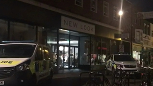 The area surrounding the Prezzo restaurant has been sealed off