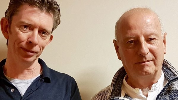 Mystery Train host John Kelly and 'Godfather of Irish Electronica' Roger Doyle