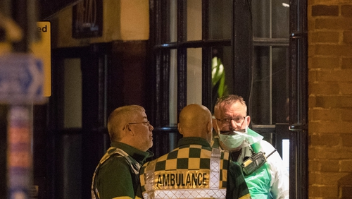A major incident was declaredwhen a man and a woman became unwell at a restaurant in the city