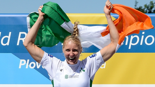 Sanita Puspure paid tribute to her family following her gold medal on Sunday