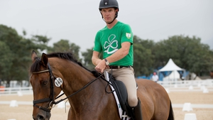 Padraig McCarthy will jump third for Ireland in the show jumping event