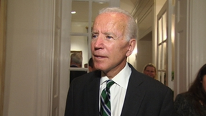 Joe Biden was speaking at the launch of the Cambridge History of Ireland at theIrish Ambassador's residence inWashington