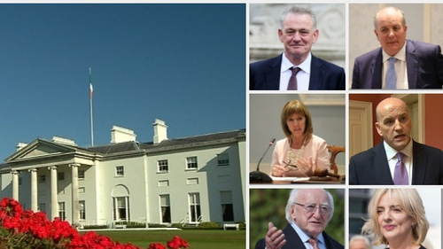 Sean Gallagher, Joan Freeman, Michael D Higgins, Liadh Ní Riada, Gavin Duffy and Peter Casey are to compete for the presidency