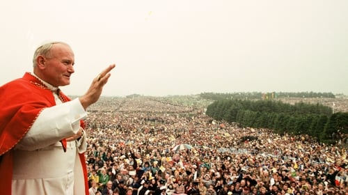 The Pope greets the faithful in Ireland in 1979