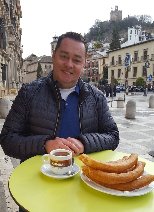 Neven-Maguire-enjoying-traditional-Churros-in-Granada