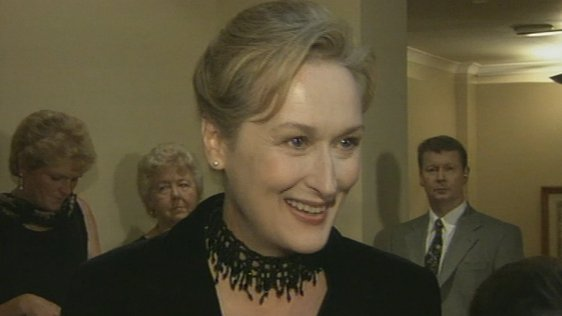 Meryl Streep in Dublin for 'Dancing at Lughnasa' premiere (1998)