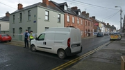 A man in his 50s has been arrested after the stabbing at Linenhall Street (Pic Darran Rafferty)