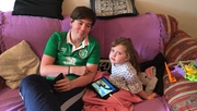 Ross Dollard alongside his four-year-old sister Molly Mai who is not currently receiving any specialist therapies