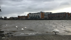 Water levels are rising in Limerick as a result of Storm Ali