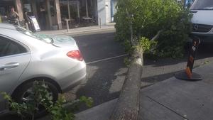 Some cars had a near miss in Glasthule, Co Dublin
