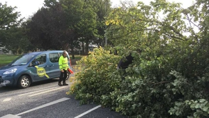 Two lanes of the Rock Road in Dublin were blocked