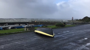 The winds were strong enough to upend a boat at Lough Corrib, Galway