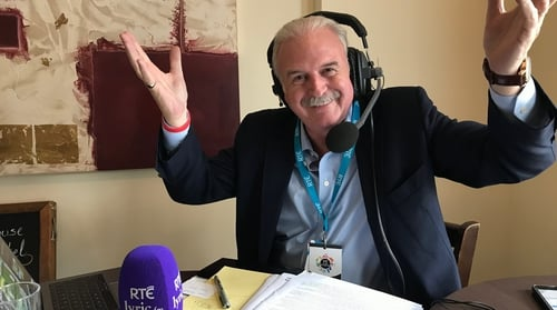 Marty Whelan broadcasted from...near the Ploughing!