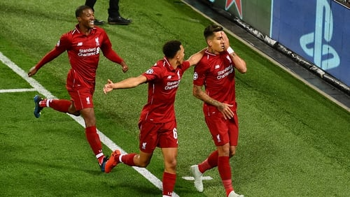 Roberto Firmino made a play on his eye injury after he scored the winner at Anfield