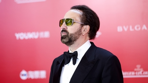 """Nicolas Cage:""""I'm sure it's frustrating for (director)Panos (Cosmatos), who has made what I consider a very lyrical, internal, and poetic work of art, to have this 'Cage Rage' thing slammed all over his movie""""."""