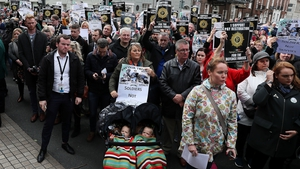 The parade heard morale among the Defence Forces is non-existent and their mental health is a worry