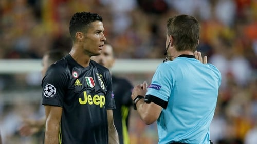 Ronaldo was making his first appearance for Juventus in the competition